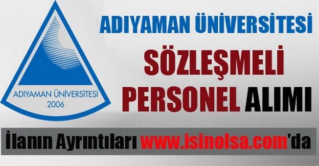 Adıyaman Üniversitesi Sözleşmeli Personel Alımı
