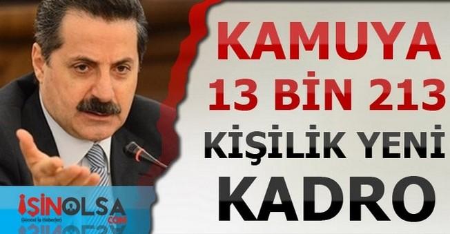 Bakan Çelik Kamuya 13 bin 213 Kadro Açıldığını Açıkladı