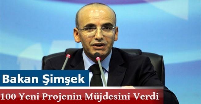 Bakan Şimşek 100 Yeni Projenin Müjdesini Verdi
