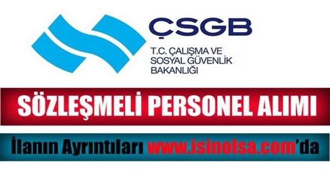 Çalışma ve Sosyal Güvenlik Bakanlığı Sözleşmeli Personel Alımı 2014