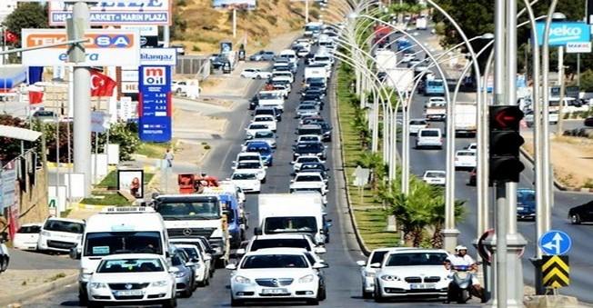 Bodrum'da Trafik Çilesi