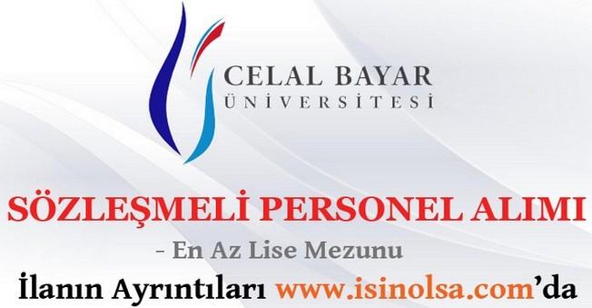 Celal Bayar Üniversitesi Sözleşmeli Personel Alımı 2016