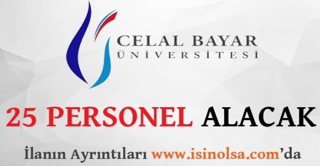 Celal Bayar Üniversitesi 25 Personel Alacak