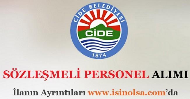 Cide Belediyesi Sözleşmeli Personel Alımı