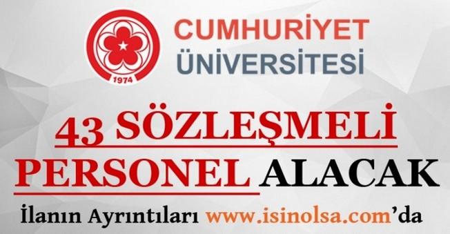 Cumhuriyet Üniversitesi Sözleşmeli Personel Alımı