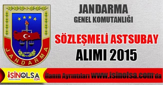 Jandarma Genel Komutanlığı Sözleşmeli Astsubay Alımı 2015