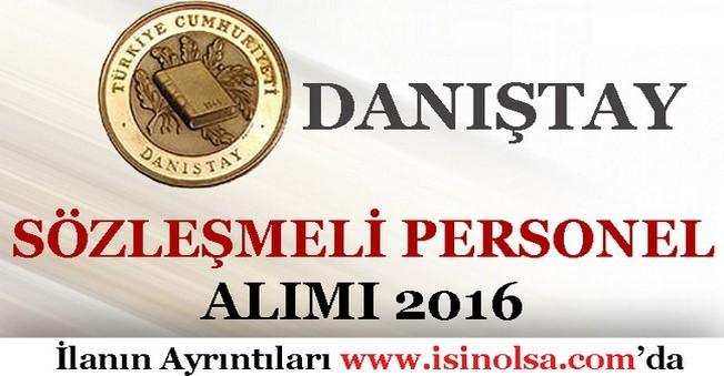 Danıştay Sözleşmeli Personel Alımı 2016