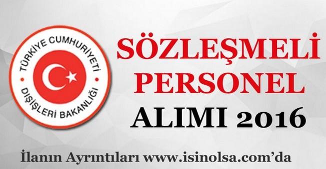 Dışişleri Bakanlığı Sözleşmeli Personel Alımı 2016