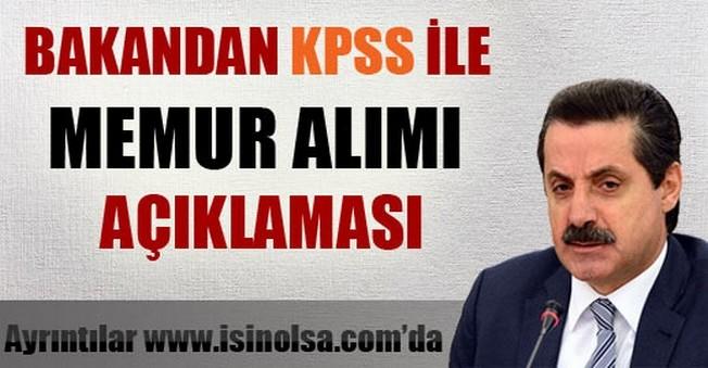 Bakandan KPSS İle Memur Alımı Açıklaması