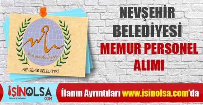 Nevşehir Belediyesi Memur Personel Alımı