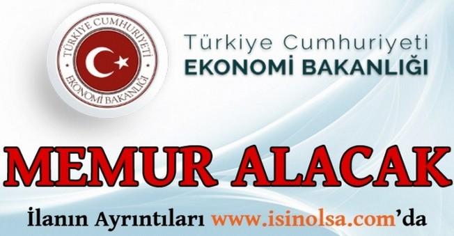 Ekonomi Bakanlığı Memur Alımı