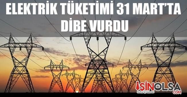 Elektrik Tüketimi 31 Mart'ta Dibe Vurdu