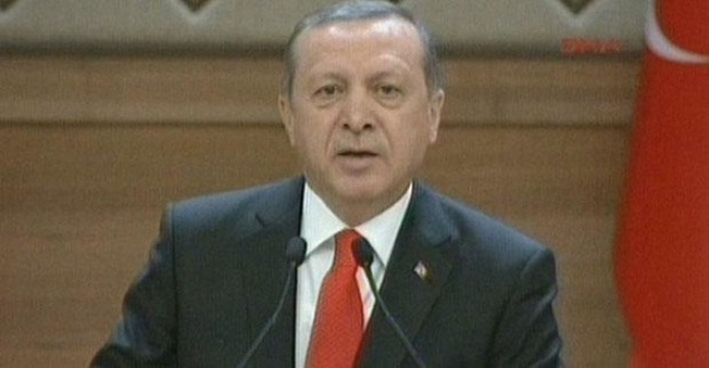Erdoğan muhtarlar toplantısında konuştu