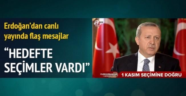 Erdoğan'da 1 Kasım Açıklaması