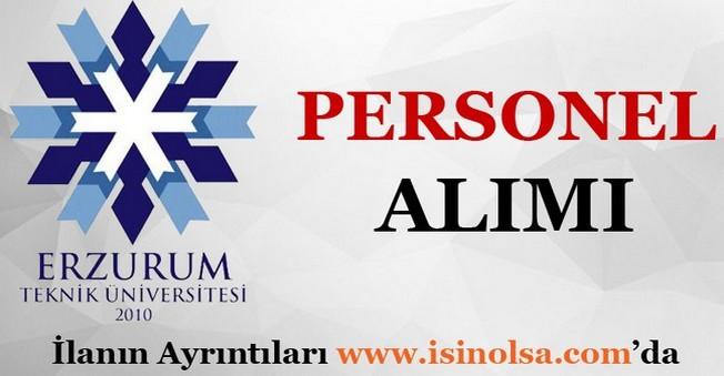 Erzurum Teknik Üniversitesi Personel Alımı