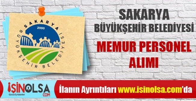 Sakarya Büyükşehir Belediyesi Memur Personel Alımı