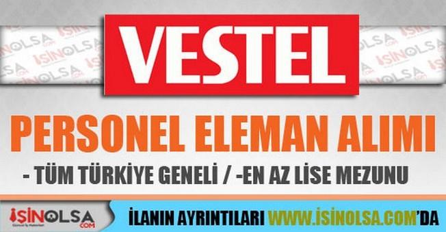 Vestel Personel Eleman Alımları