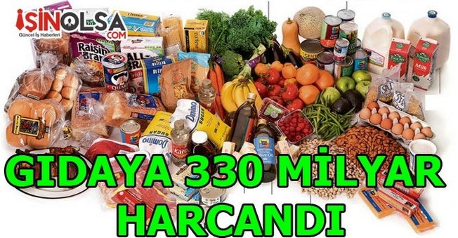 Gıdaya 330 Milyar Lira Harcanıldı