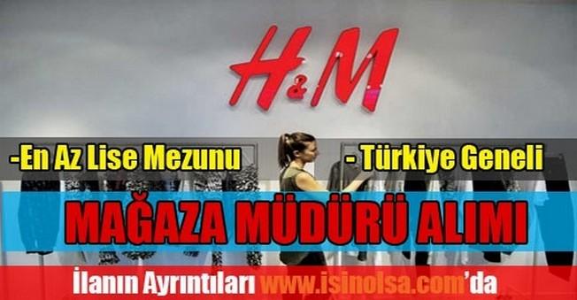 H&M Lise Mezunu Mağaza Müdürü Alımı
