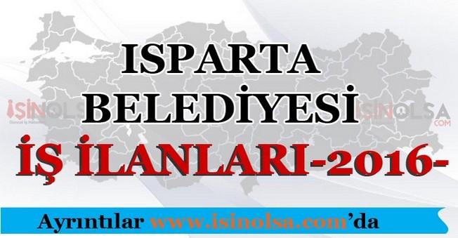Isparta Belediyesi İş İlanları 2016