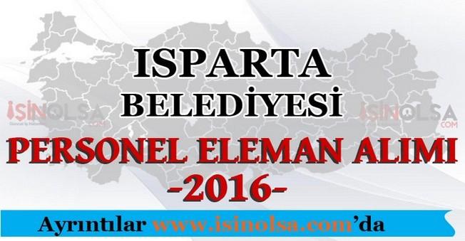 Isparta Belediyesi Personel Eleman Alımları 2016