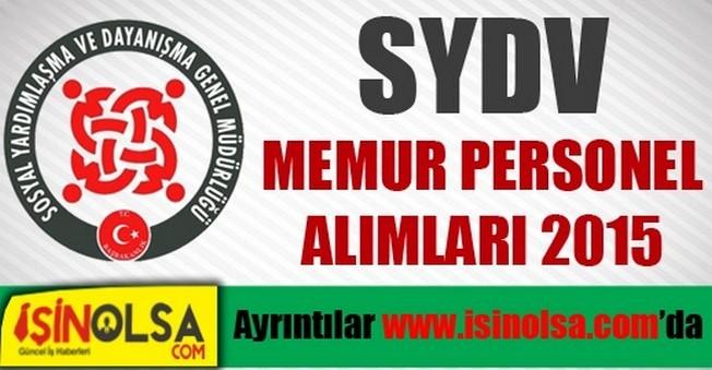 İstanbul Fatih SYDV Personel Alımı