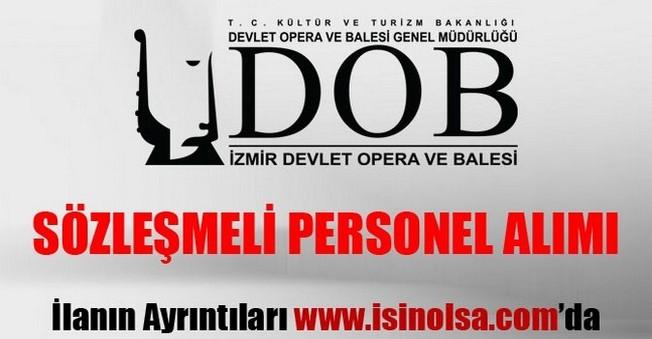 İzmir Devlet Opera ve Balesi Sözleşmeli Sanatçı Alımı 2015