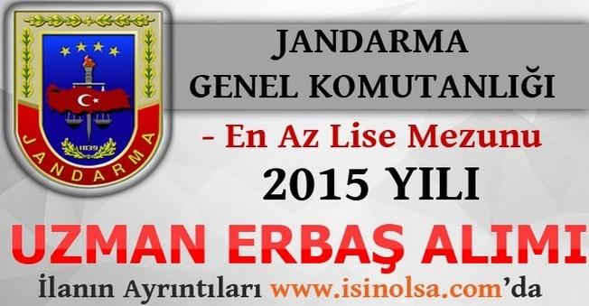 Jandarma, 2015 Yılı Uzman Erbaş Alımı
