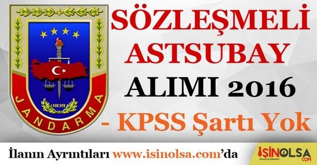 Jandarma Genel Komutanlığı Sözleşmeli Astsubay Alımı 2016
