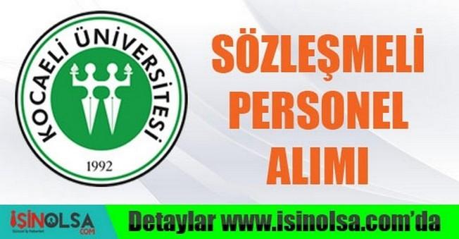 Kocaeli Üniversitesi Sözleşmeli Personel Alımı