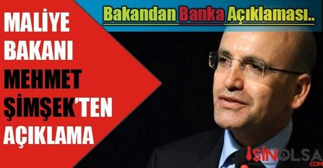 Maliye Bakanı Mehmet Şimşek'ten Banka Açıklaması