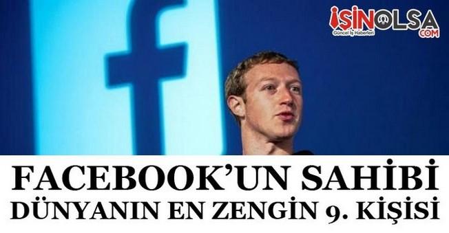 Mark Zuckerberg Dünyanın En Zengin İlk 10'una Girdi