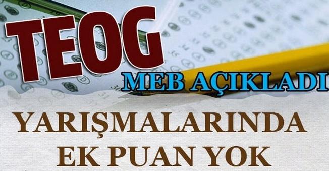 Meb Açıkladı, TEOG Proje yarışmalarında Ek Puan Yok