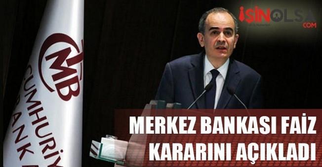 Merkez Bankasının Faiz Kararı Açıklandı