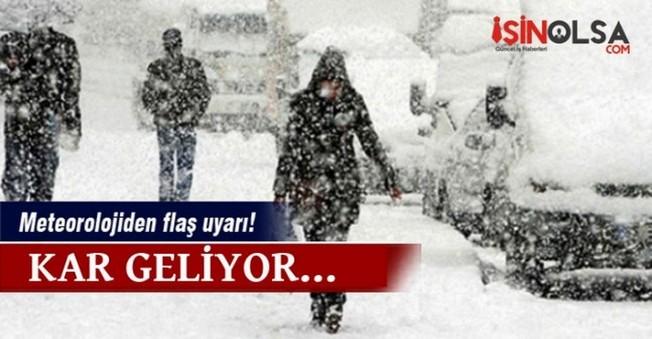 Meteorolojiden Flaş Kar Uyarısı
