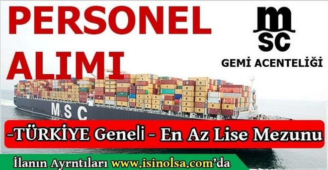 MSC Türkiye Geneli Personel Eleman Alımı