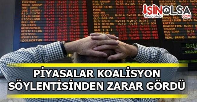 Piyasalar Koalisyon Söylentisinden Zarar Gördü