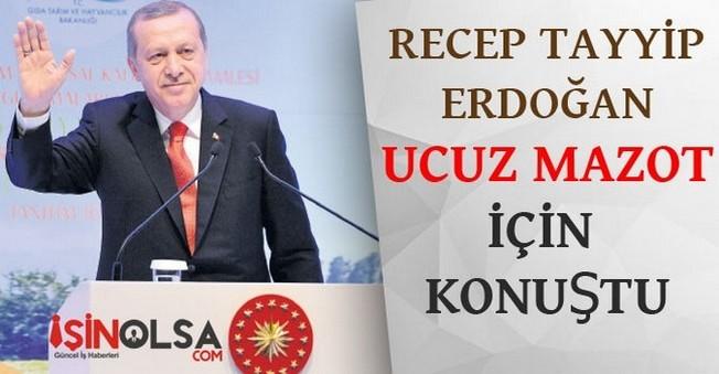 Recep Tayyip Erdoğan Ucuz Mazot için Konuştu