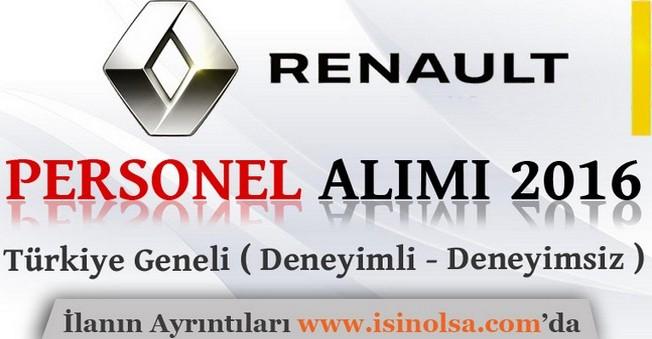Renault 2016 Personel Alım İlanı