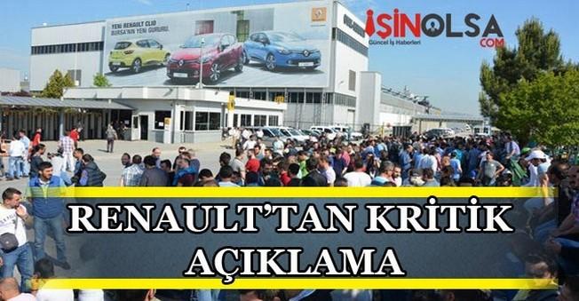 Renault'tan Çok Kritik Açıklama
