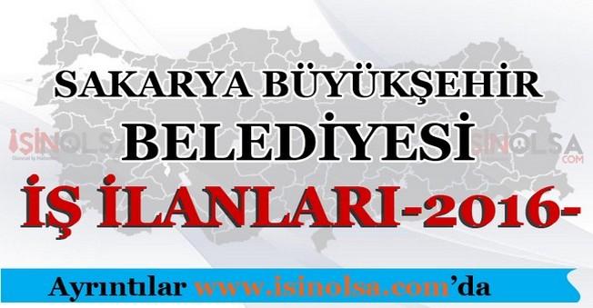 Sakarya Büyükşehir Belediyesi İş İlanları 2016