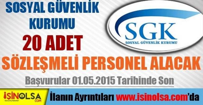 SGK Sözleşmeli Personel Alımı 2015