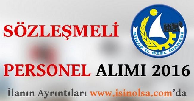 Sinop İl Özel İdaresi Sözleşmeli Personel Alımı 2016
