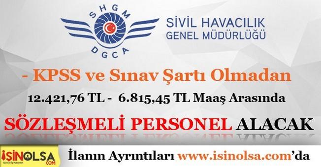 Sivil Havacılık Genel Müdürlüğü Sözleşmeli Personel Alımı 2016