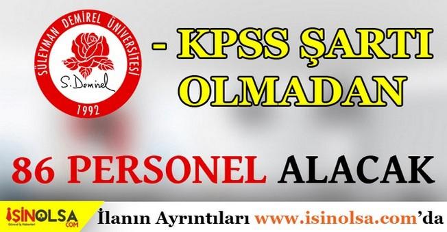 Süleyman Demirel Üniversitesi Personel Alım İlanı 2016