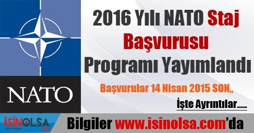 2016 Yılı NATO Staj Programı