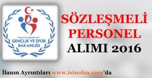 Gençlik ve Spor Bakanlığı Sözleşmeli Personel Alımı 2016