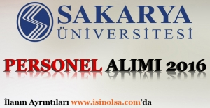 Sakarya Üniversitesi Personel Alımı 2016