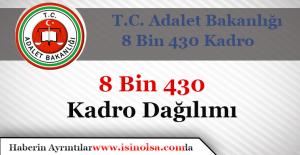 Adalet Bakanlığı 8 Bin 430 Kadro Dağılımları Belli Oldu