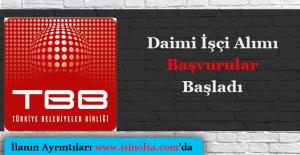 Türkiye Belediyeler Birliği Daimi İşçi Alımı 2016